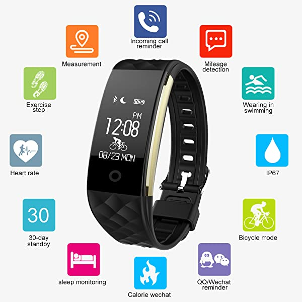 Amazon.com : HYON Fitness Tracker, IP67 Waterproof Outdoor Sport Touch