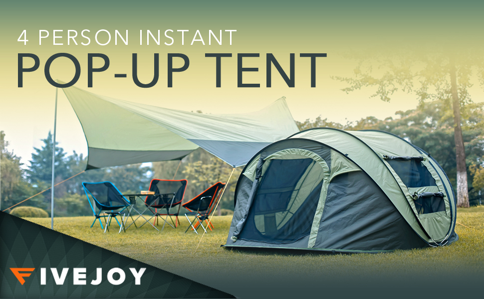 Fivejoy 4 Person Instant Pop Up Tent Best Review Outdoor