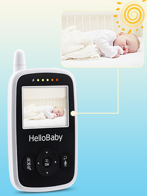hello baby wireless video baby monitor with digital camera hb24. Black Bedroom Furniture Sets. Home Design Ideas