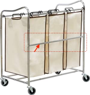 3 bag laundry sorter. simplehouseware heavyduty 3bag laundry sorter chrome 3 bag a