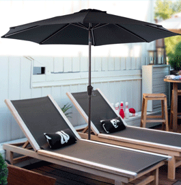 Do You Always Stay Indoor For Escaping The Heat And Harsh Sun On Hot Days?  This 10 Feet Auto Tilt Umbrella Provides Large Enough Shade For You And  Your ...