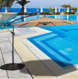 This Sundale Outdoor 10 Feet Offset Patio Umbrella With Crank Is Ideal For  Hanging Over Outdoor Dining Tables, Conversation Seating, Or Pool Or Spa  Areas.  Offset Patio Umbrellas