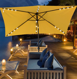 This Sundale Outdoor Rectangular Solar Powered 22 LED Lighted Outdoor Patio  Umbrella Is The Best Choice For The Beach, Pool, Balconies Or Out In The  Patio, ...