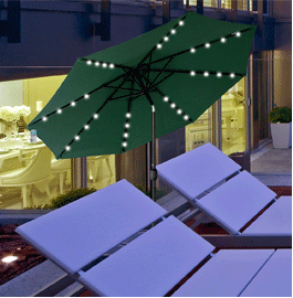 This Sundale Outdoor 9ft Solar LED Patio Umbrella Is Ideal For Camping,  Balconies, Picnics Or Any Outdoor Space. It Can Not Only Provide Plenty Of  Shade ...