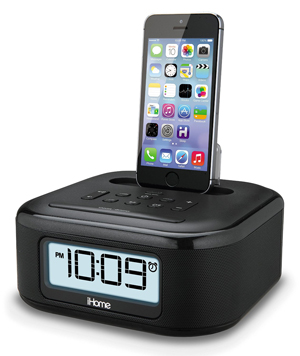 ihome ipl23 stereo fm clock radio with lightning dock charge play. Black Bedroom Furniture Sets. Home Design Ideas