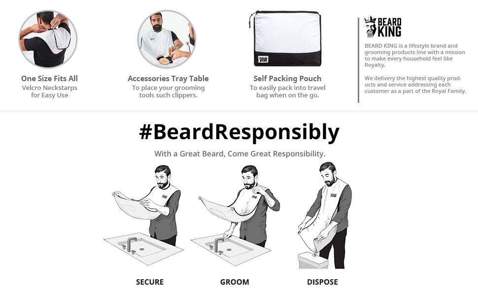 beard king the official beard bib hair clippings catcher amp. Black Bedroom Furniture Sets. Home Design Ideas