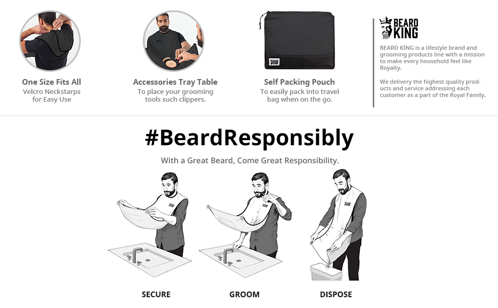 beard king the official beard bib hair. Black Bedroom Furniture Sets. Home Design Ideas