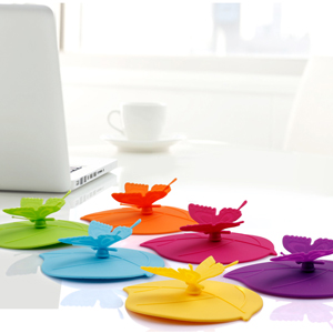 Amazon Com Silicone Cup Lids Creative Butterfly Mug