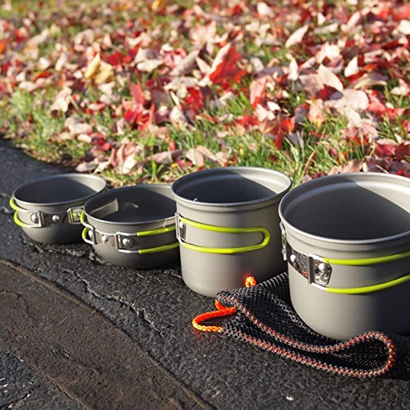 Amazon.com : G4Free Outdoor Camping pan Hiking Cookware