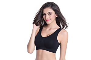 BoHong Seamless Underwear Sports Bra with Removable Pads at Amazon