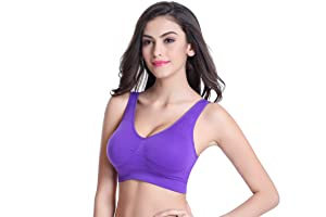 BoHong Underware Sports Bra with Removable Pads at Amazon Women's