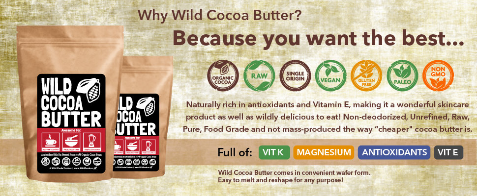 Amazon.com : Raw Cocoa Butter Wafers From Organically Grown Cacao ...
