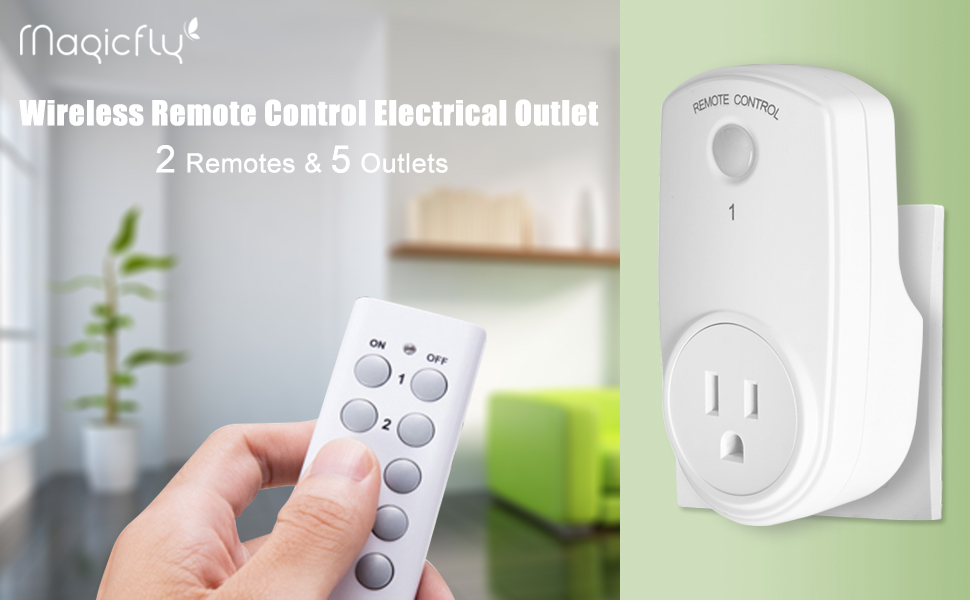 Magicfly Wireless Remote Control Electrical Outlet Light