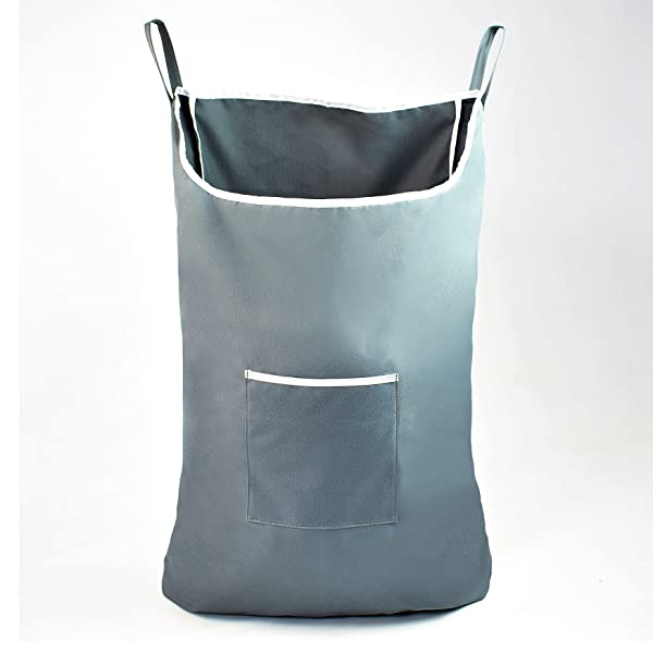 Space Saving Hanging Laundry Hamper Bag With