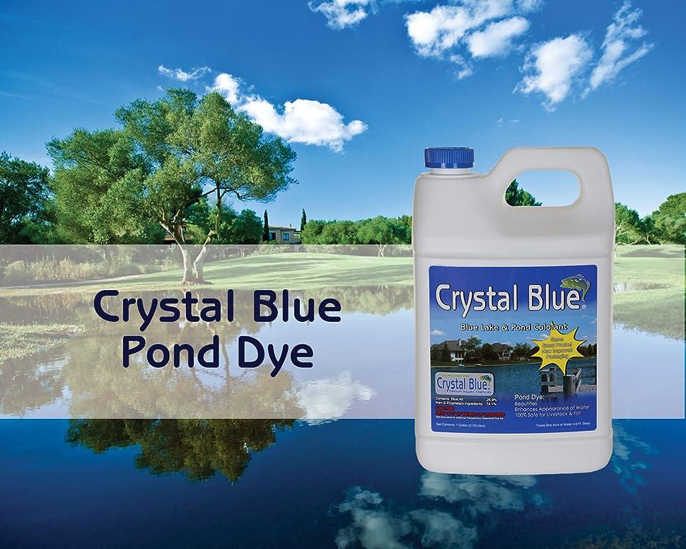 Crystal blue lake and pond dye royal blue for Blue pond dye