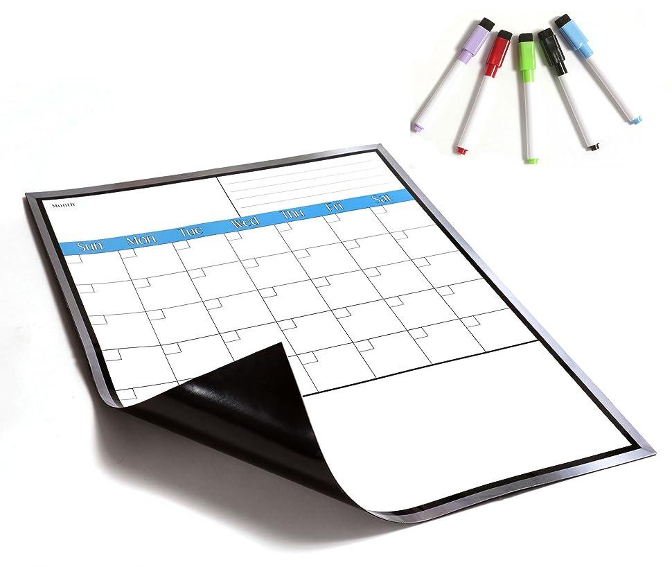 Blank Magnetic Calendar Refrigerator : Amazon large magnetic dry erase calendar for