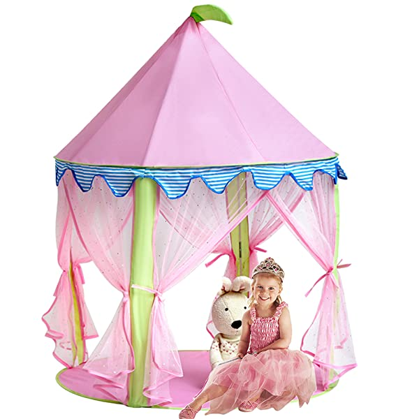 princess castle tent sonyabecca tent for girls pop up tent pink toys games. Black Bedroom Furniture Sets. Home Design Ideas
