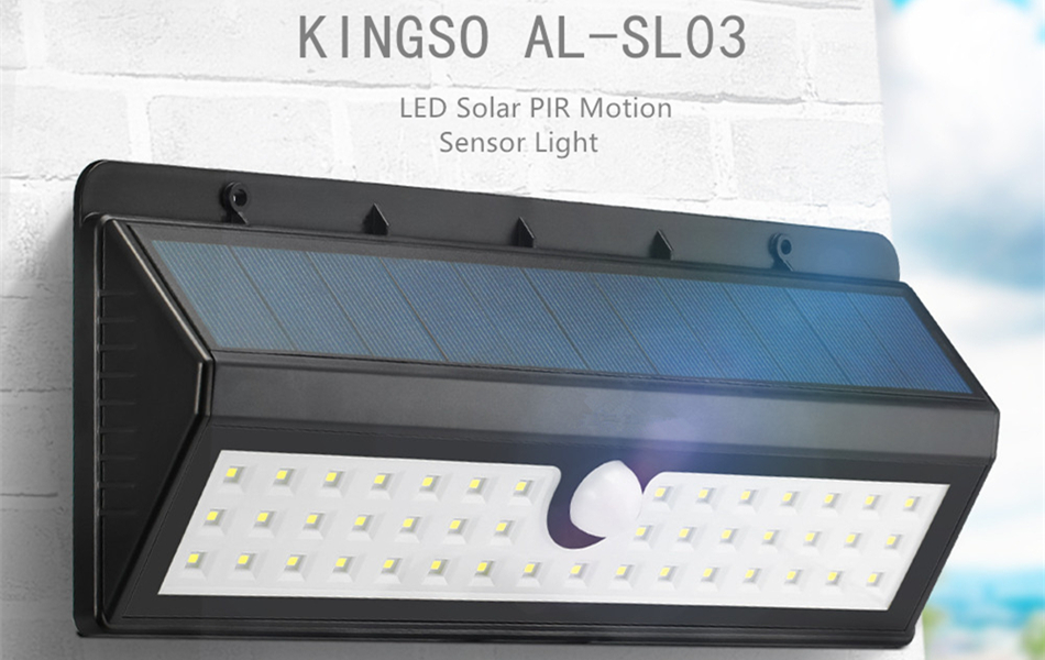 Kingso outdoor solar lightssuper bright 44 led motion sensor light our innovative solar powered motion activated light can provide your home or business with security in minutes it can also be used to provide light to mozeypictures Choice Image