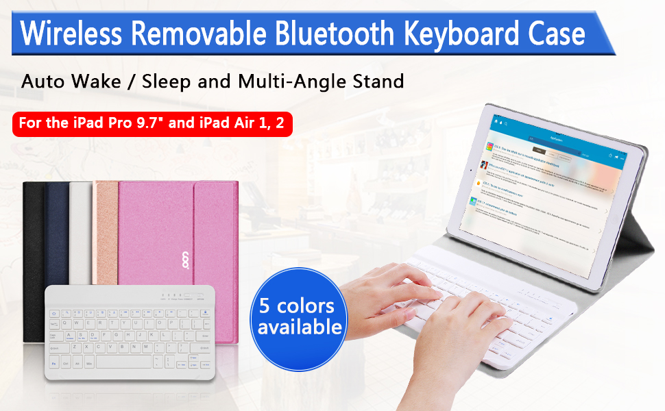 The Stylish and lightweight COO Keyboard Case for iPad tablet as an  enhanced productivity tool.the ultra-versatile Removable ...