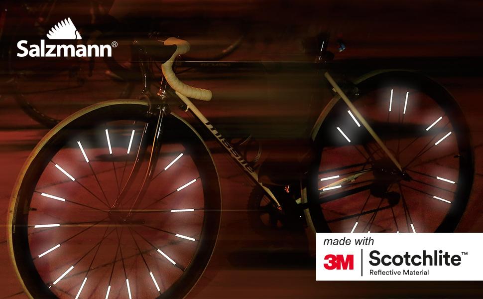 Salzmann 3m Scotchlite Hi Vis Spoke Reflector Bicycle