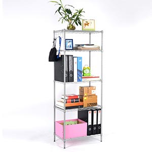 Langria 5 tier storage shelf wire shelving unit free standing rack organization with - Free standing kitchen storage solutions ...