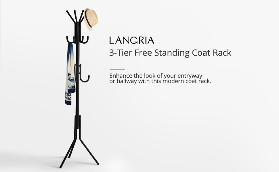 Amazoncom LANGRIA Standing Entryway Coat Rack Coat Tree Hat