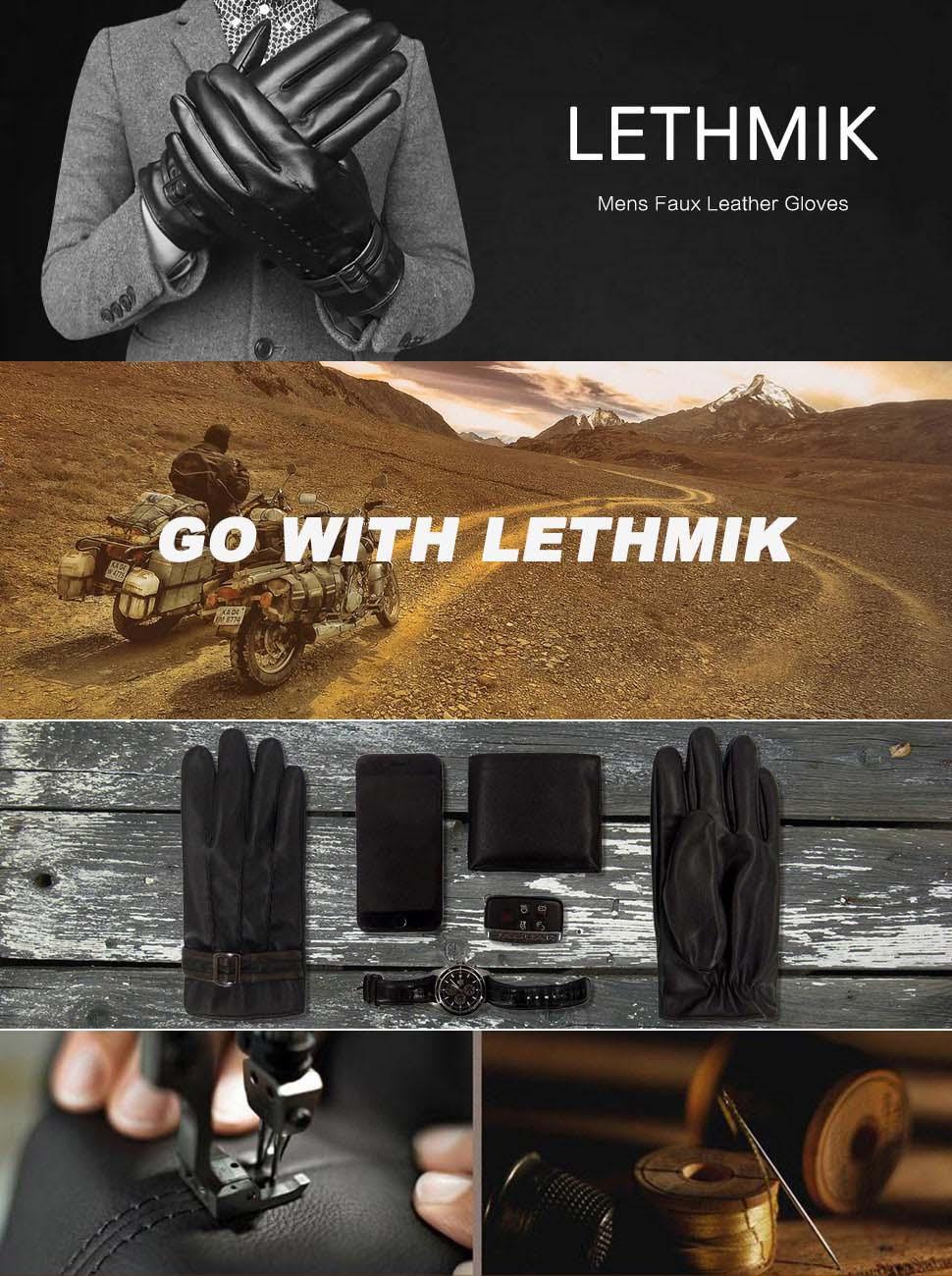 Fake leather driving gloves - Lethmik Leather Gloves