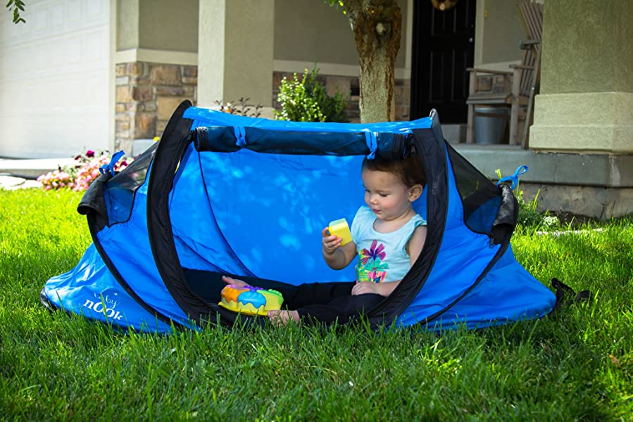 Amazon Com Baby Nook Travel Bed And Beach Tent Blue