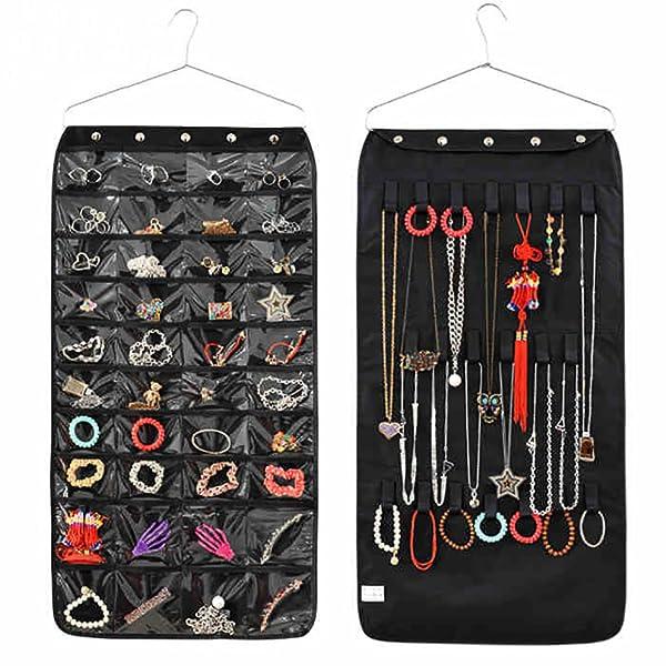 Amazon.com: Jewelry Organizer Hanging Bag 40 Pockets & 20