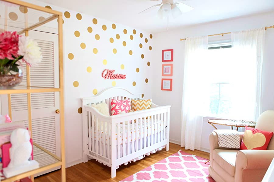 Amazoncom Gold Dot Wall Decal Decals Bonus Inspirational - Gold dot wall decals nursery