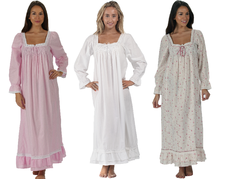 factory online 095f2 773bb 100 percent cotton nightgowns twitter.com ...