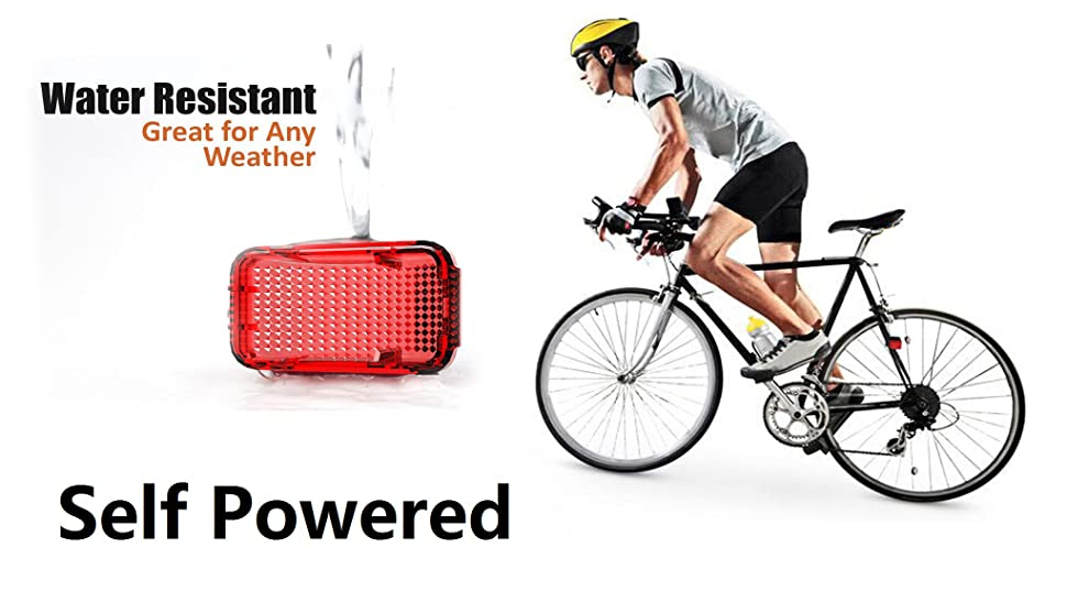 Ysiop Self Powered Bike Spoke Tail Light No Batteries