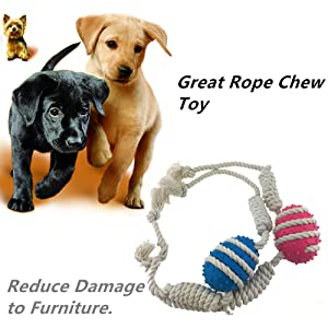 Amazon.com : Aduck Puppy Rope Dog Toys for Aggressive