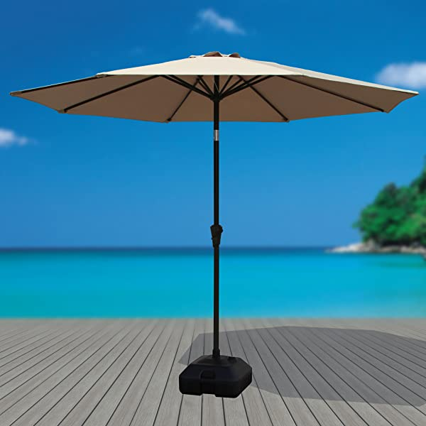 Umbrella Stand Water Filled: Amazon.com : COBANA Patio Umbrella Base Stand Water Sand