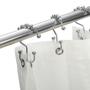 Amazer Shower Curtain Hooks Double Shower Curtain Rings Stainless Steel Rustproof