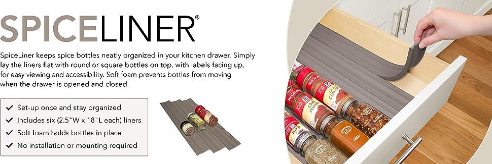 Amazon Com Youcopia Spiceliner In Drawer Spice Organizer