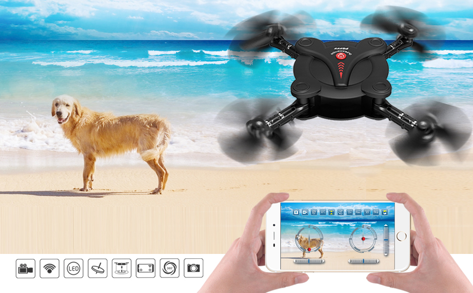 RC Quadcopter Drone with FPV Camera Live Video - 2 Batteries