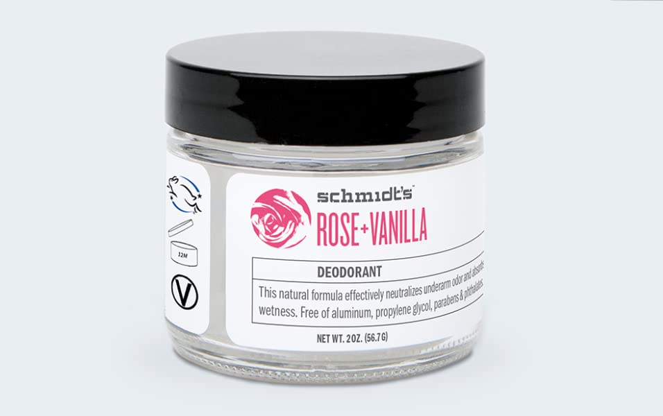 Rose + Vanilla Deodorant Jar (2 oz.; Odor Protection & Wetness Relief