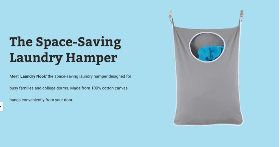 Meet U0027Laundry Nooku0027 The Space Saving Laundry Hamper Designed For Busy  Families And College Dorms. Made From 100% Cotton Canvas, Hangs  Conveniently From Your ...