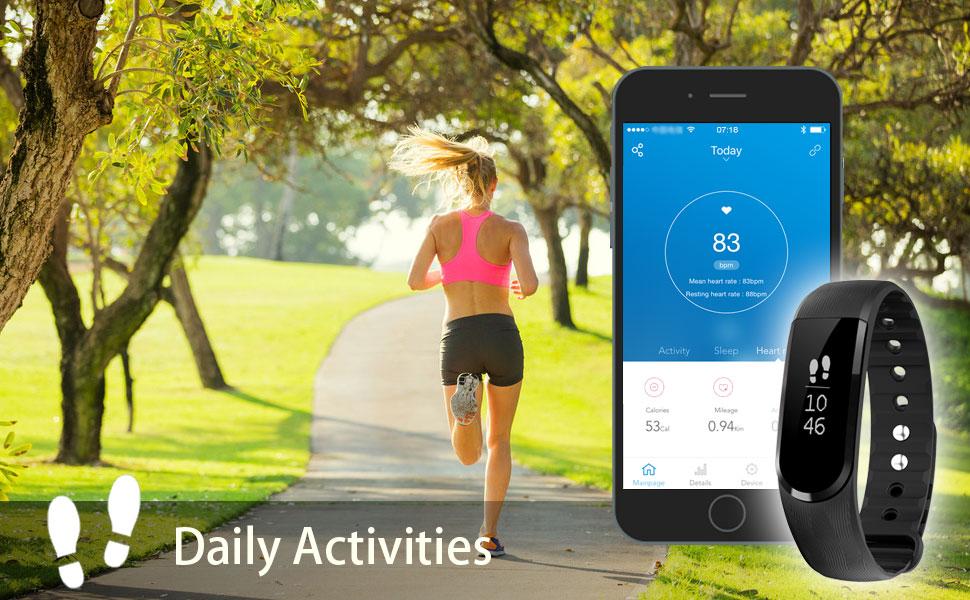 Amazon.com : LETSCOM Fitness Tracker Watch, Bluetooth 4.0 Heart Rate