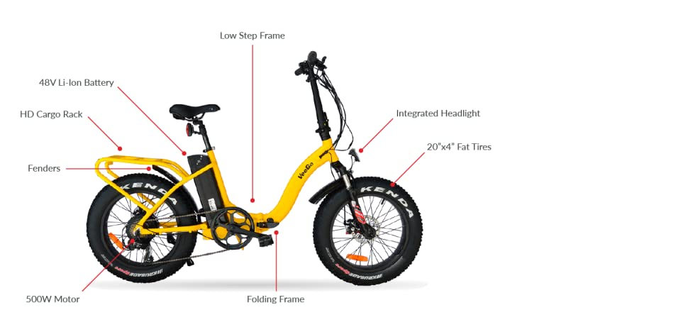 Amazon.com : VeeGo Folding Fat Tire Electric Bicycle with