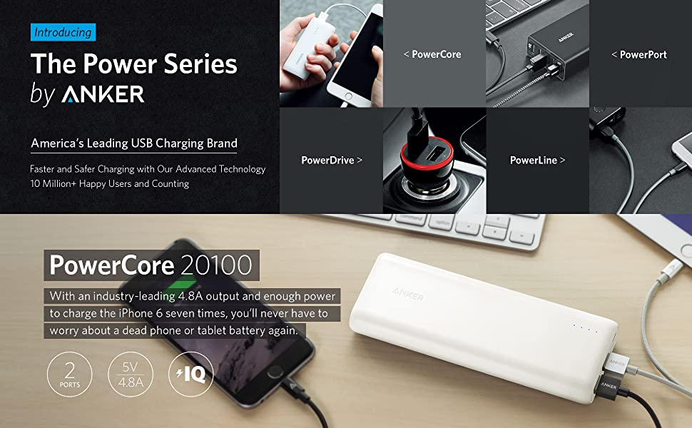 [Most Compact 20000Mah Portable Charger] Anker Powercore 20100 - Ultra High C.. 3