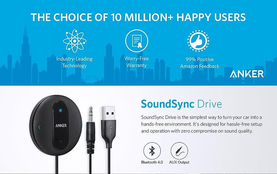 Anker Soundsync Drive Bluetooth   Car Receiver