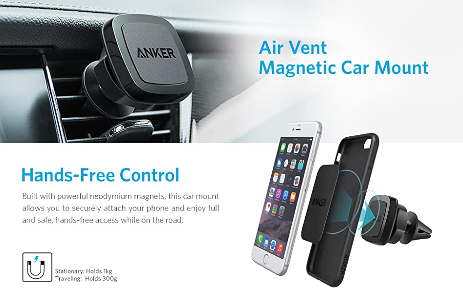 fK1WBQLWQX2i._UX947_TTW_ amazon com anker air vent magnetic car mount, highly adjustable can you put magnets on a fuse box at mifinder.co