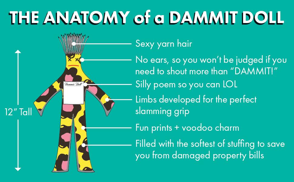 Amazon.com: Dammit Doll Classic, 12 Inch, Random Color