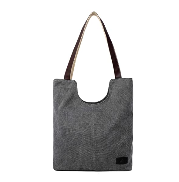 Hiigoo Simple Portable Bags Canvas Tote Bag Casual Shoulder Bag ...