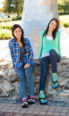 Toe Flip Flop Tabi Socks - Solids, Stripes & Patterns at Amazon
