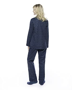 Noble Mount Womens Premium 100% Cotton Flannel Pajama Sleepwear ...