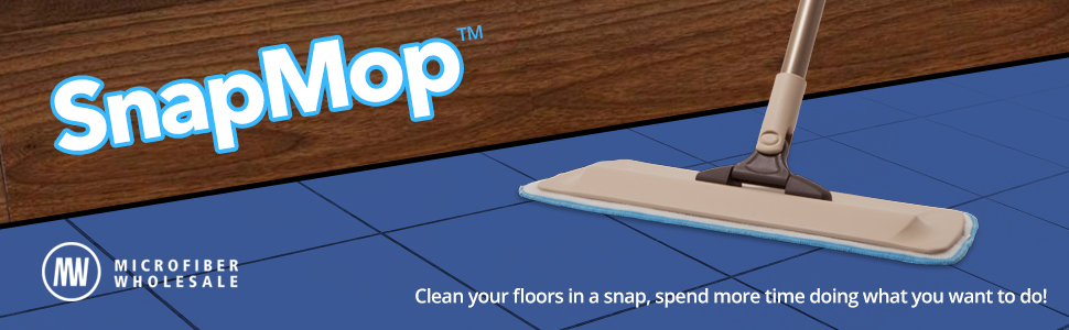 Microfiber Flat Mops Are The Best Way To Clean Your Hardwood, Laminate,  Tile And Polished Concrete Floors! Microfiber Wholesaleu0027s SnapMop™ Is A  Great, ...