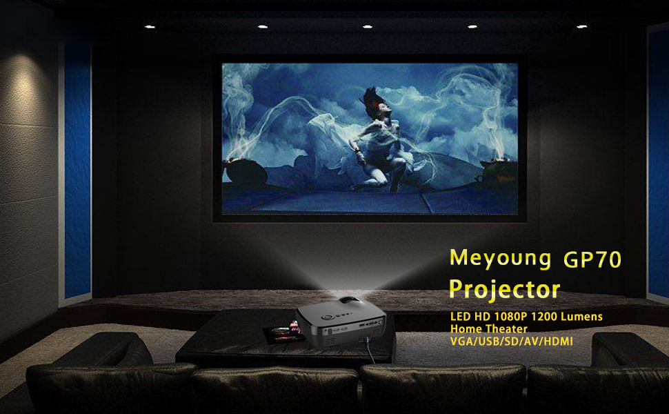 meyoung home projector hd video projector 1080p 1200